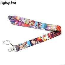 Flyingbee Futurama Cartoon Lanyard Phone Rope Keychains for Keys ID Card Lanyards For Men Women X0385