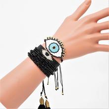 Go2boho MIYUKI Evil Eye Bracelet Blue Bracelets Pulseras Mujer Moda 2019 Crystal Party Jewelry Women Tassel Armband Handmade
