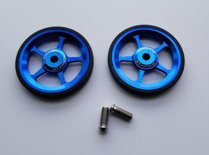 Image 5 - 1 пара легких колес для велосипеда, быстрое освещение, суперлегкие легкие колеса из алюминиевого сплава + титановые болты для Бромптона 45 г/компл.