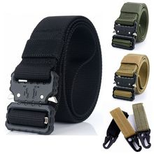 Tactical Belt Military Belt Army Combat Training Outdoor Hunting Adjustable High Quality Nylon Belt Security Accessories