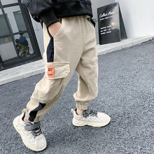 Pants Boys Trousers Kids Autumn Baby-Boy 4-13-Years Casual Children's New Spliced Pockets