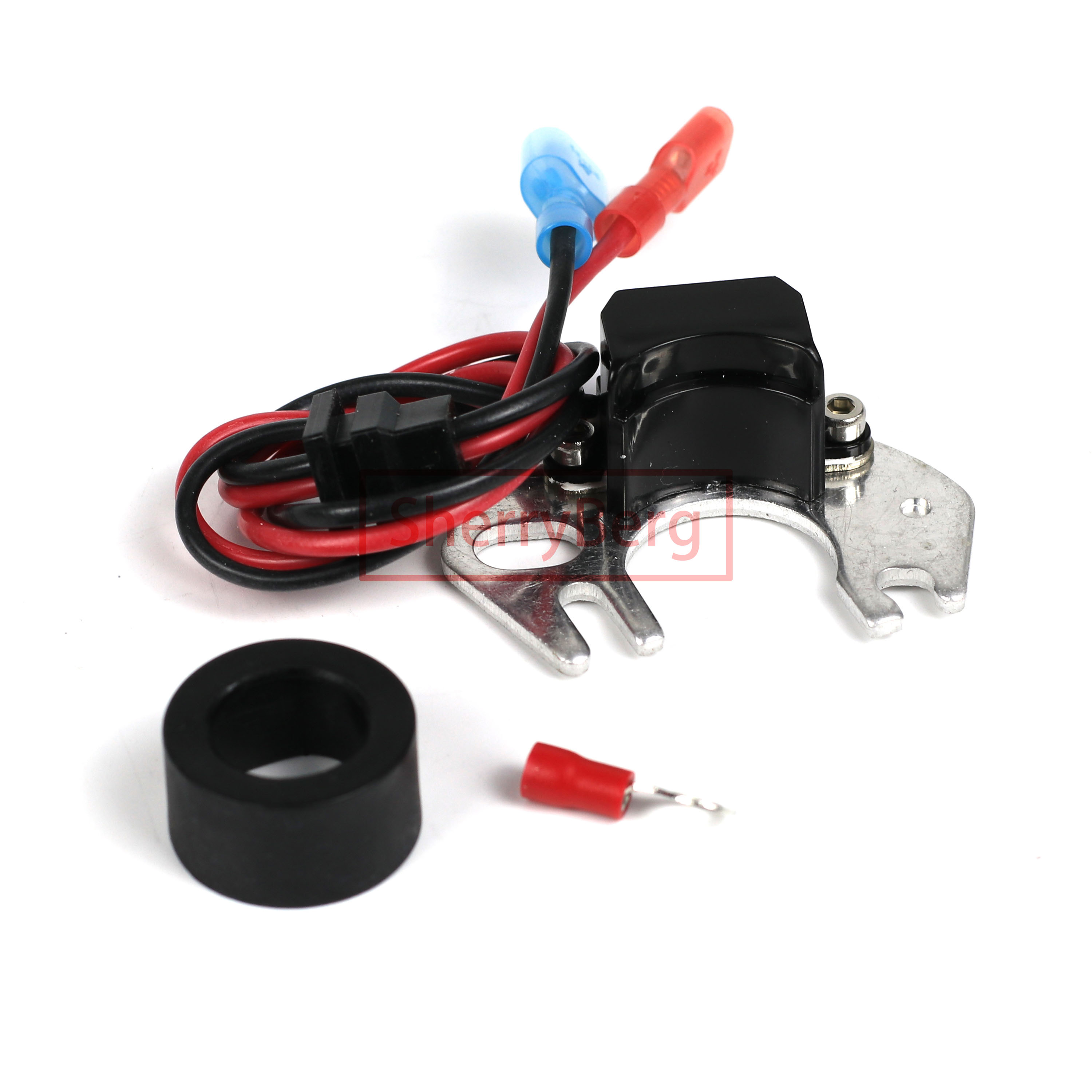 SherryBerg  new Electronic Ignition Conversion Kit Replaces Points in 4-cyl Hitachi Distributor for nissan Datsun distirbutor ki