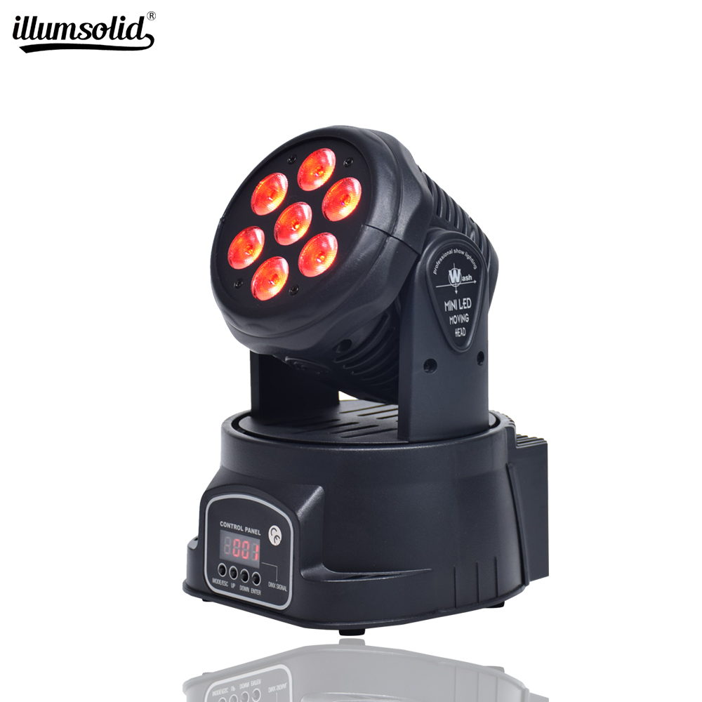 Moving Head LED Wash Stage Lighting 7x12W RGBW 4in1 DMX512 DJ Lighting