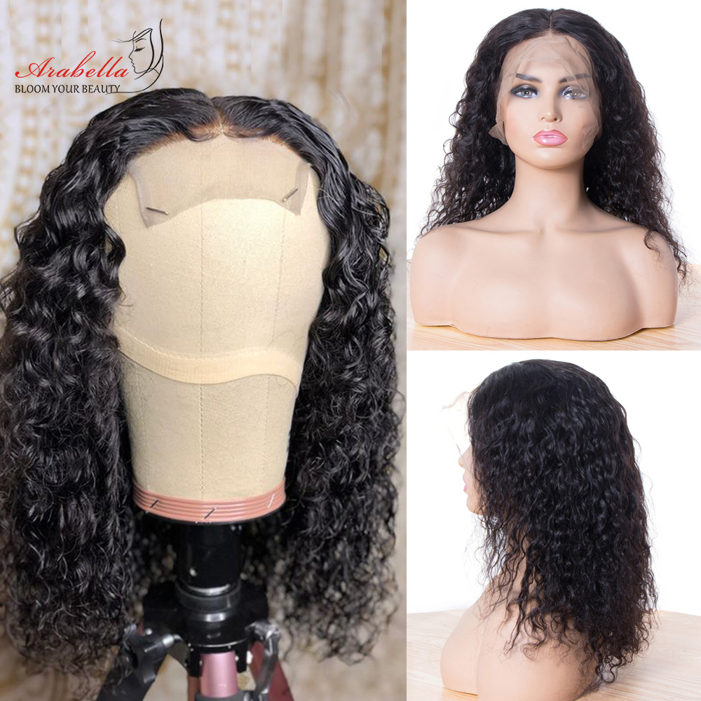 Water Wave Bob Wig Lace Front  Wigs Short Bob Wig  Pre Plucked Bleached Knots Wig Water Curly Bob Wig 3