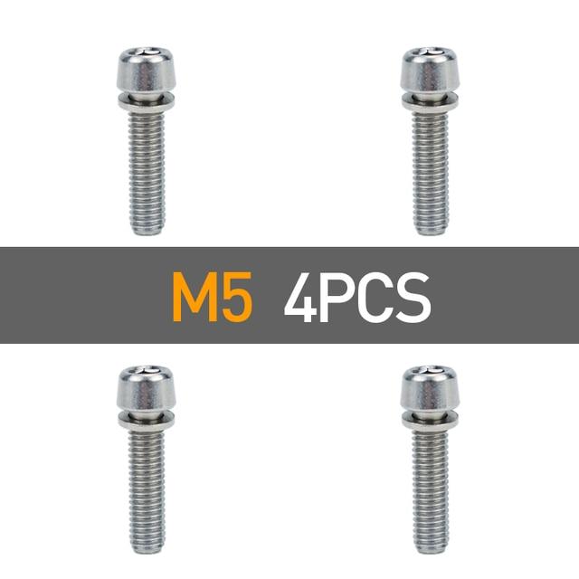 6pcs bicycle headset stem cap screw steel bicycle seat disc bolt m5 20mmH;CE