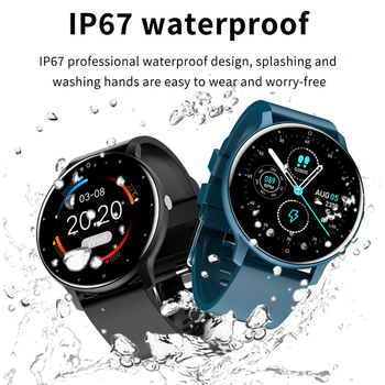 LIGE New 2021 Full touch Female Digital watch waterproof Sports suitable for Android IOS multifunction Electronic watch male+Box 4