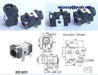 Dhl/ems 1000 pcs 4pin 3.5mm x 1.3mm dc 소켓 잭 여성 pcb 충전기 전원 플러그 DC-031-A8