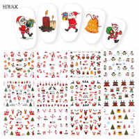 1 Set winter new year Design colorful glitter christmas / christmas sticker for nail slider foil decoration tip filigree decals