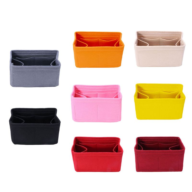 Felt Insert Bag Makeup Handbag Organizer Travel Inner Purse Portable Cosmetic Bags Storage Tote