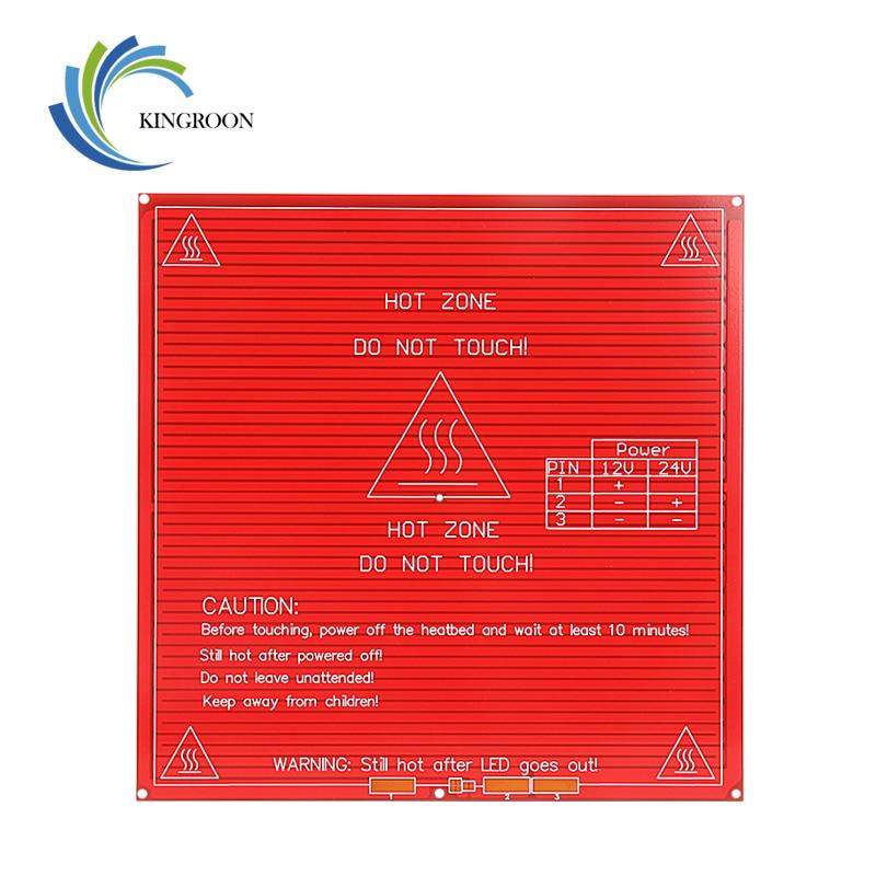 kingroon atualizado mk2b cama aquecida pcb heatbed duplo 12v 24v vermelho mk2b 3d impressoras pecas plataforma