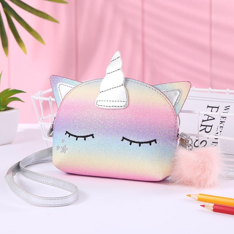 Cartoon Unicorn Kids Mini Clutch Purse Handbag Cut