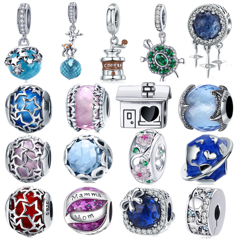 Fashion 925 Silver Crystal Fish Charm European Beads Fit Necklace Bracelet DIY !