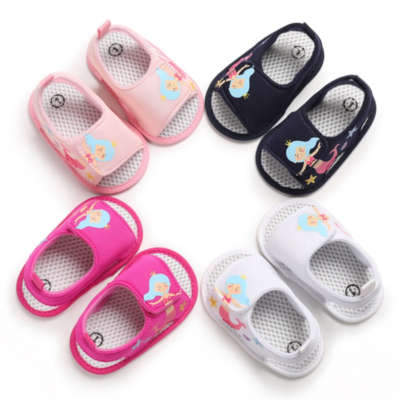 Baby Girl Summer Soft Sole Shoes Cute Cartoon Girls Boys Sandals Toddler Infant Prewalkers Baby Sandals