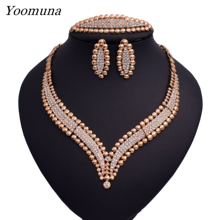 цены Dubai fashion  jewellery sets African women's wedding jewelry set silver / gold color fine necklace jewelry sets for women