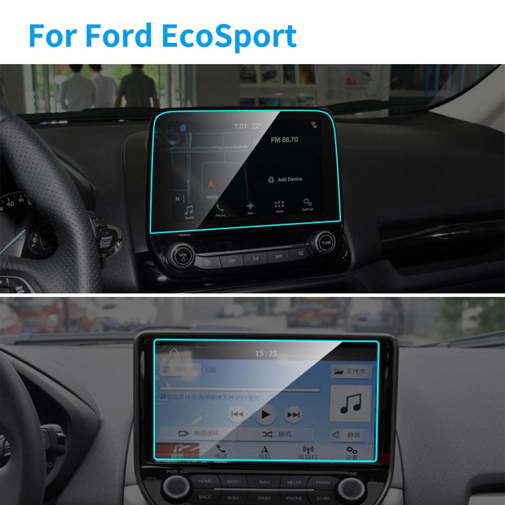 Película protectora de para pantalla de navegación GPS de acero para Ford EcoSport, película protectora de TPU para coche, accesorios de Interior de coche, 8 y 9 pulgadas
