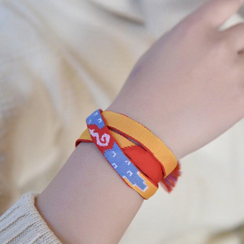 Hirigin moda anime periférico pulseira filme seu nome miyamizu mitsuha pulseira corrente jóias faixa de cabelo cosplay acessórios