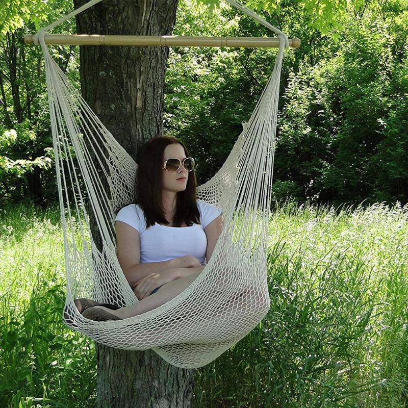 SWING Hammock เก้าอี้สำหรับเด็กผู้ใหญ่ Nordic Camping Hammock เก้าอี้กลางแจ้งในร่มสวนห้องนอนห้องนอนแกว่งเดี่ยว г...