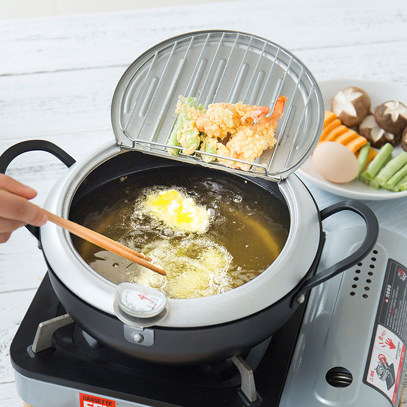 Frying Pan Common Electric Furnace With Thermometer For Small Controllable Temperature Japanese Fried Pot Cookware Kitchen Pot