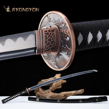 RYONGYON Handmade Katana Real Sword Sharp Genuine Japanese Samurai Sword Japan Ninja Sword 1095 steel Full Tang Blade 501 ryongyon handmade katana real sword sharp genuine japanese samurai sword japan ninja sword 1095 steel full tang blade 502