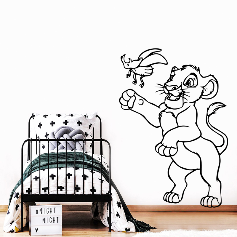 Animal Home Decor Simba Wall Stickers For Kids Room Boys Lion King Room Decoration Wall Vinyl Decals Cartoon Wallpaper B541 Best Discount 1027 Cicig