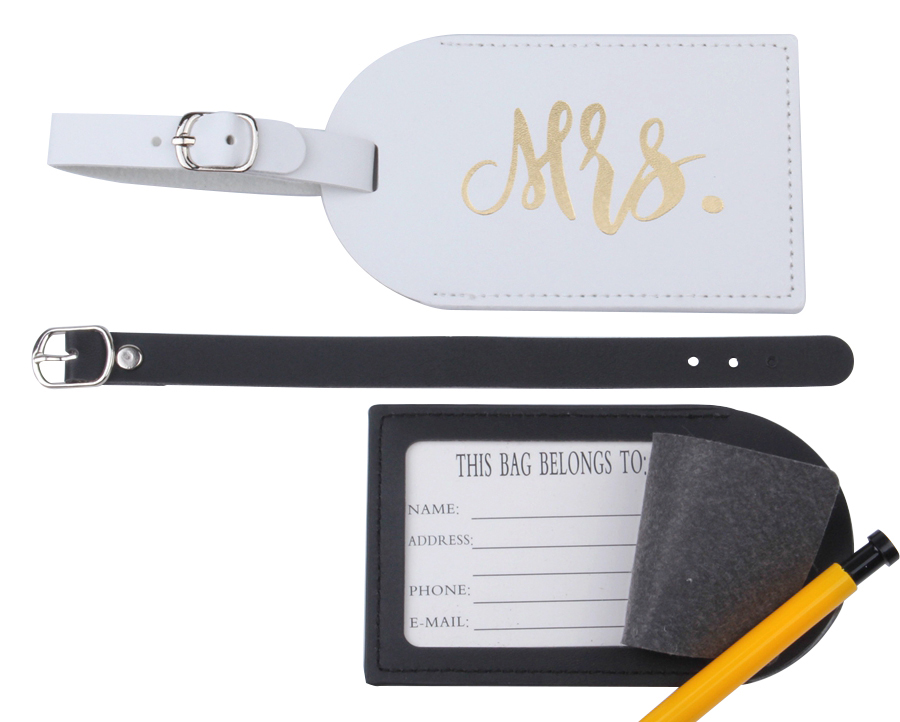 PU Leather MR. MRS. Travel Accessories Set Luggage Tag & Passport Set Travel Accessories  ID Tag Passport Holder LT35CH12