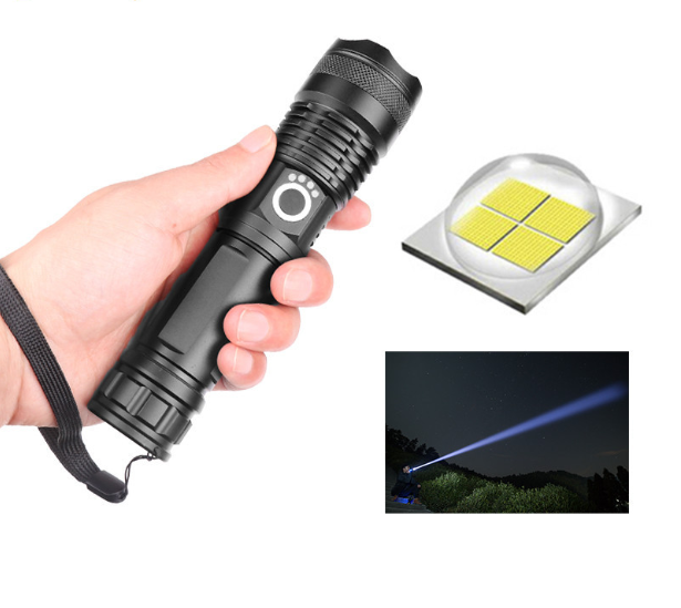 VIP1 7000 Lumens Lamp Most Powerful Flashlight Usb Zoom Led Torch Xhp70 Xhp50 18650 Or 26650 Battery Best Camping, Outdoor