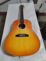 free shipping AAA grade custom acoustic guitar free dreadnought vintage acoustic guitar professional 6 string ebony wood guitar