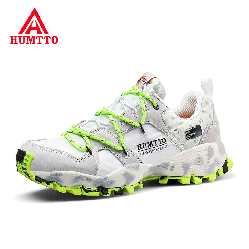 HUMTTO Woman Leather Hiking Shoes Lace-up Soft Non-slip Outdoor Light Walking Sneakers Women Breathable Climbing Trekking Shoes
