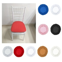 10 Pcs Stretch Chair Seat Cover Furniture Protector Home Accessory Spandex Chair Cover Wedding Dining Room Slipcover 12 Colors