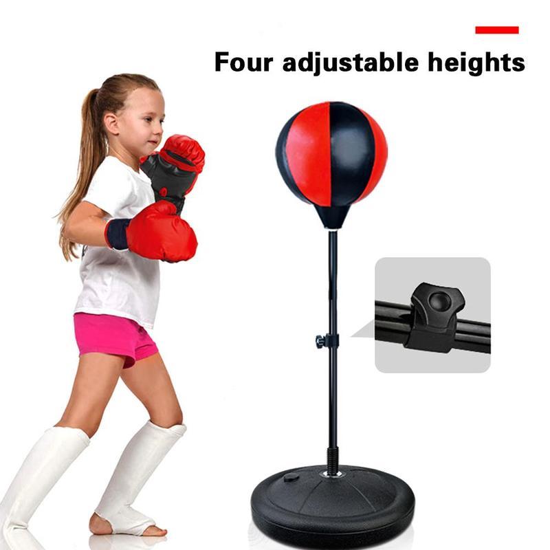 Ajustável vertical bola de boxe fitness boxe