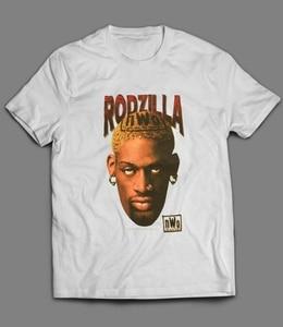 Vintage 90 Rodzilla T-Shirt Dennis Rodman 1Nwo Tee 1998 Size S-5Xl cotton tshirt men summer fashion t-shirt euro size