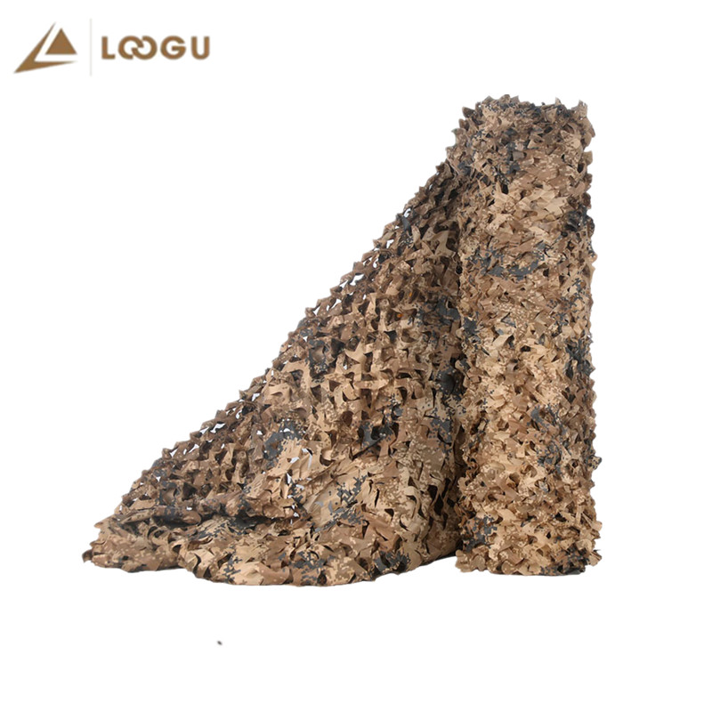LOOGU 1.5x2M Camo Netting Fabric Only Sand Camouflage Nets Desert Digital Camo Network For Car Cover Hiding Mesh Hunting Terrace