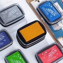 Dimi 22 Colors Big Size Inkpad Craft Oil Based DIY Ink Pads for Sponge Stamps Scrapbooking Cardmaking Fingerprint Seal Stamp Pad