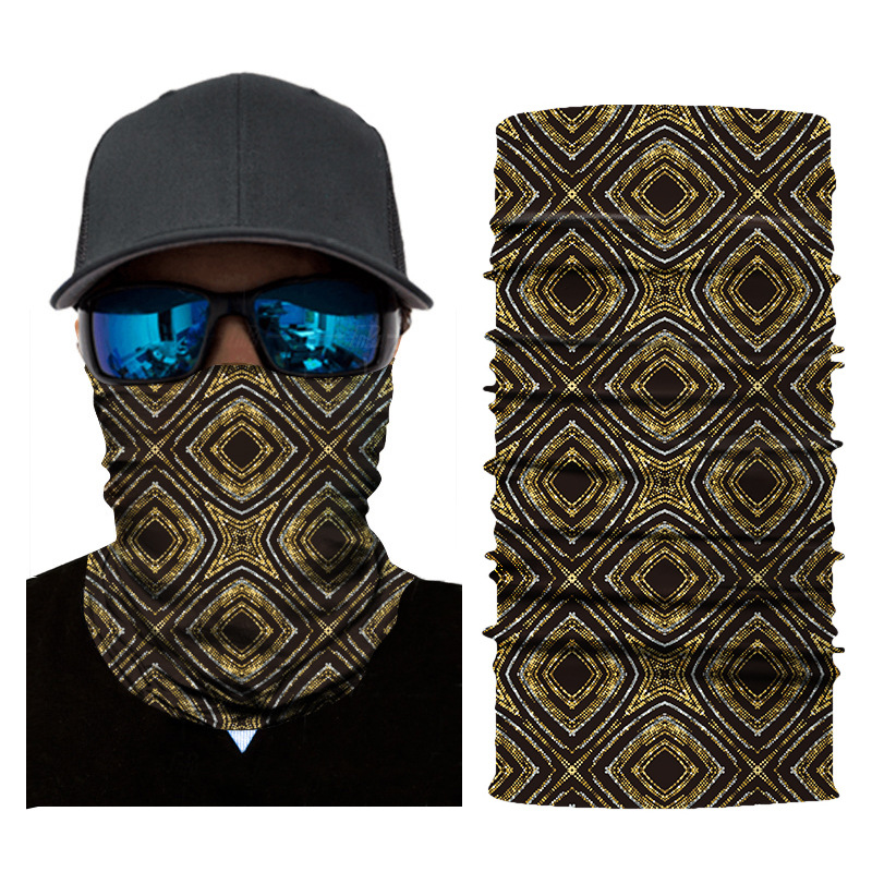 1pc Face Mask Fish Plaid Balaclava Head Cover Fishing Cycling Outdoor Face Mask Head Hair Band Hood Scarf Pirate Hat Wristbands
