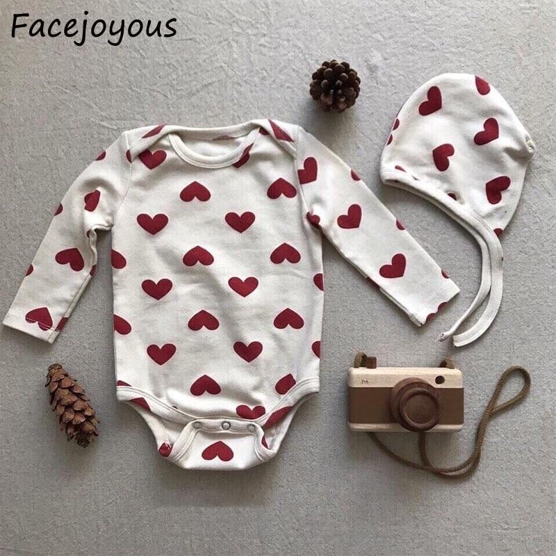 Newborn Baby Girls Bodysuit Short-Sleeve Onesie I Loves Coffee Print Rompers Autumn Pajamas