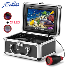 Erchang Fish Finder Underwater Fishing Camera 7 Inch 1000TVL Ice Fishing Video Underwater Camera 12PCS Infrared +12pcs White LED