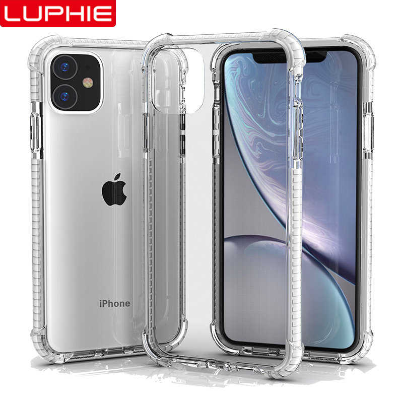 Luphie Shockproof Clear Silicone Case Voor Iphone 11 Pro Max 2019 Luxe Cover Voor Iphone 7 8 Plus X Xr xs Max Airbag Gevallen Coque