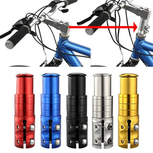 Aluminum Alloy Bicycle Stem Increased Bicycle Tube Extend Handlebar Stem Bike Front Fork Outdoor Cycling Parts Accessories