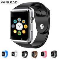 Nowy Smartwatch A1 zegarek Bluetooth smart watch Sport krokomierz z SIM aparat Smartwatch dla Androida smartfon mężczyźni kobiety
