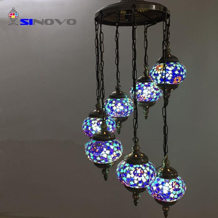 6 Sinovo Creativo di Stile Turco di Shenzhen Grande Albergo Ottone Antico Ramo Lampadario con Teste di Luce Lampadario Cucina - 3