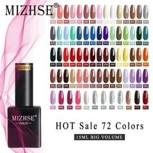 Varnish Polish Nail-Gel MIZHSE 72-Colors Soak-Off 15ML for DIY UV Long-Lasting