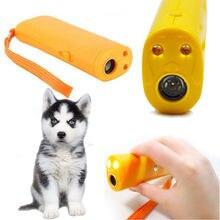 Для подавления лая ультразвуковое устройство тренер сдерживание Батарея Отпугиватель москитов средство собак Управление светодиодный Pet ...