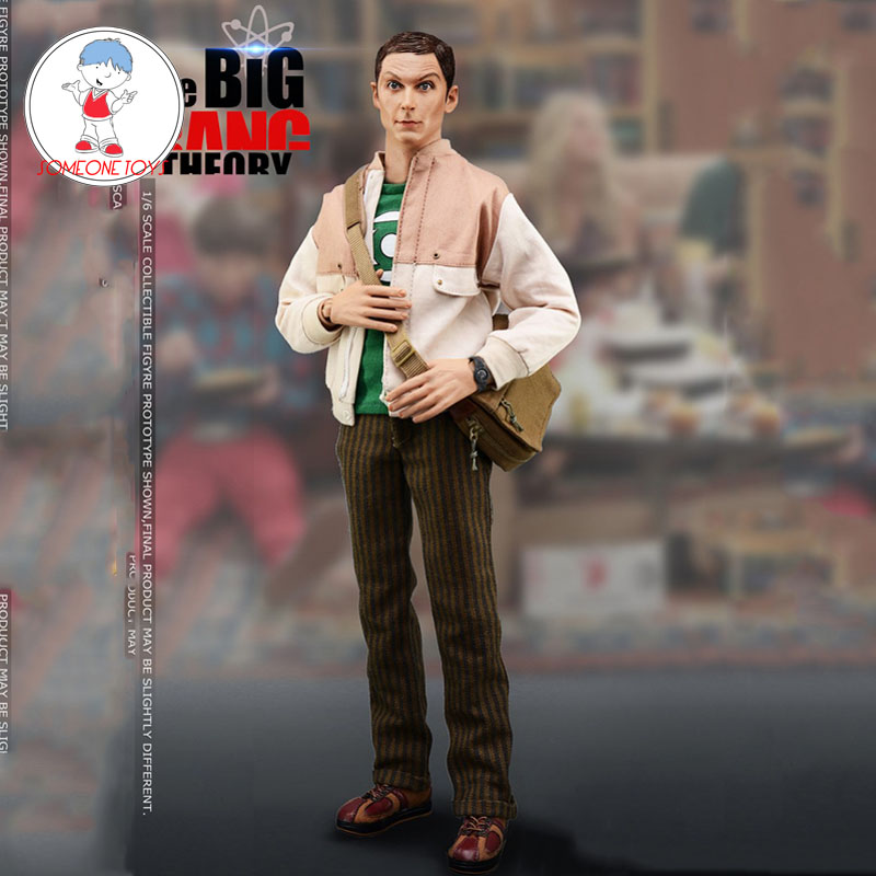 1/6 escala The Big Bang Theory figura de acción de Sheldon Lee Cooper con 2 modelos de colección de escultura de cabeza Juguetes locos 1:6 Linterna Verde variante PVC acción figura Parallax Hal Variable juguetes de modelos coleccionables Brinquedos