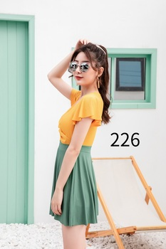 Sexy cover up dress Swimsuit beachwear female 2020 Stitching color bikini Solid color Summer dress cover ups sexy woman's dress 6