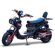 Прохладный Стиль Электрический мотоцикл-скутер электрический автомобиль, способный преодолевать Броды для взрослых Для мужчин/Для женщин электрического мотоцикла 60 V/72 V свинцово-кислотные Батарея 1200W