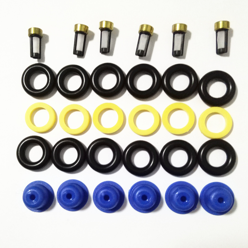 6sets Fuel Injector Service Repair Kits For <font><b>BMW</b></font> E23 <font><b>E24</b></font> E28 E30 E34 320i, 323i, 520i, 525e 533I (AY-RK002) Free Shipping image