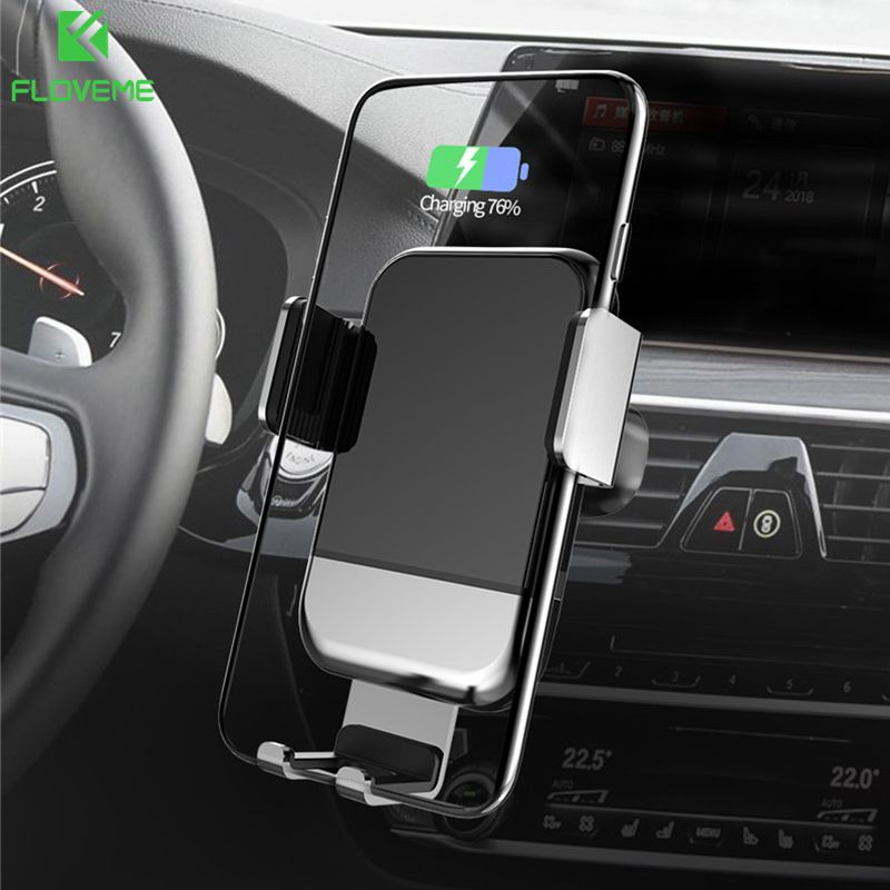 Automatic Clamp10W Car Wireless Charger Infrared Sensor Gravity Car Phone Holder 360 Rotation Air Vent Clip Mount Car Charger