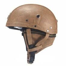 Мотоциклетный HL шлем Ретро персональный шлем половина шлем летняя педаль локомотив Круизный кожаный шлем для мужчин и женщин