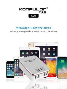 Image 5 - 6USB Mobile Ladegerät Schnell Ladegerät QC 3,0 EU UNS UK stecker multi USB Telefon Ladegerät Schnell Ladegerät 3,0 Für Mobile IPhone12 Ipad C29
