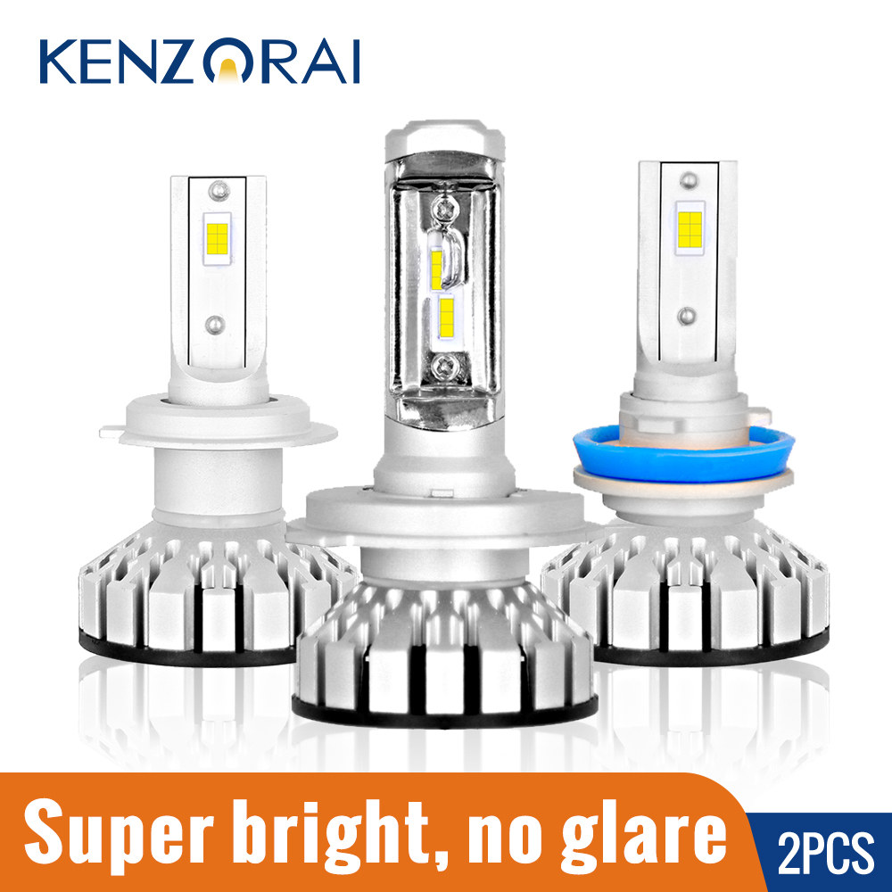 2 pièces Lumineux Superbe 12000LM Voiture Phare Ampoule LED H1 H3 H4 H7 H8 H11 9005 HB3 H10 9006 HB4 9012 80W 12V 6000K LED Ampoules de Voiture